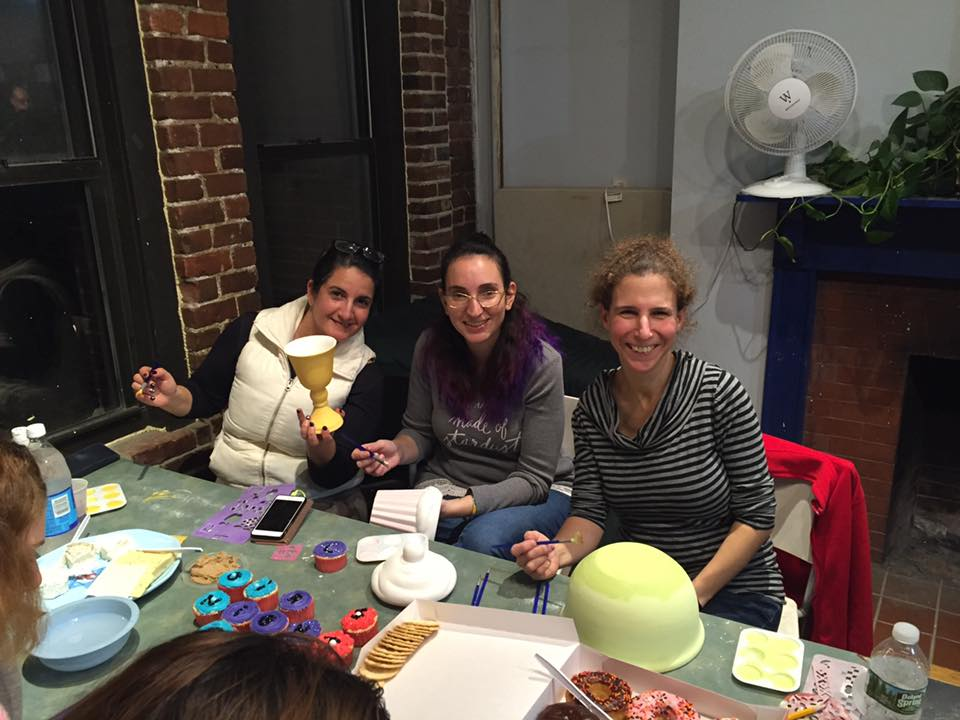 Girls night out in the Clay Room